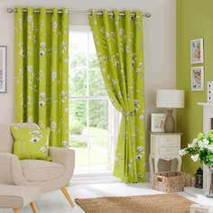 Green Darwin Eyelet Curtain Collection