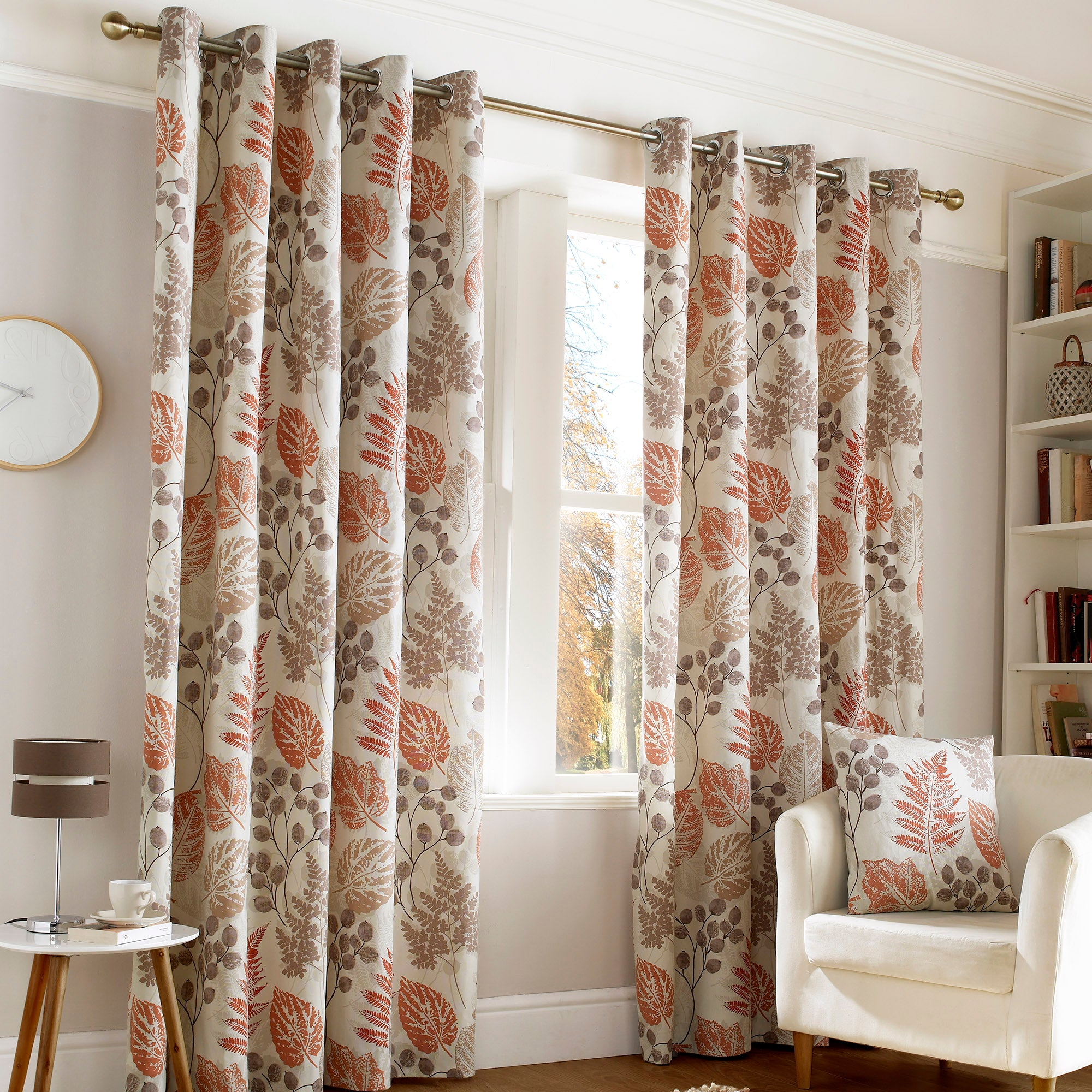 Rust New Forest Eyelet Curtain Collection