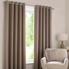 Natural Harper Eyelet Curtain Collection