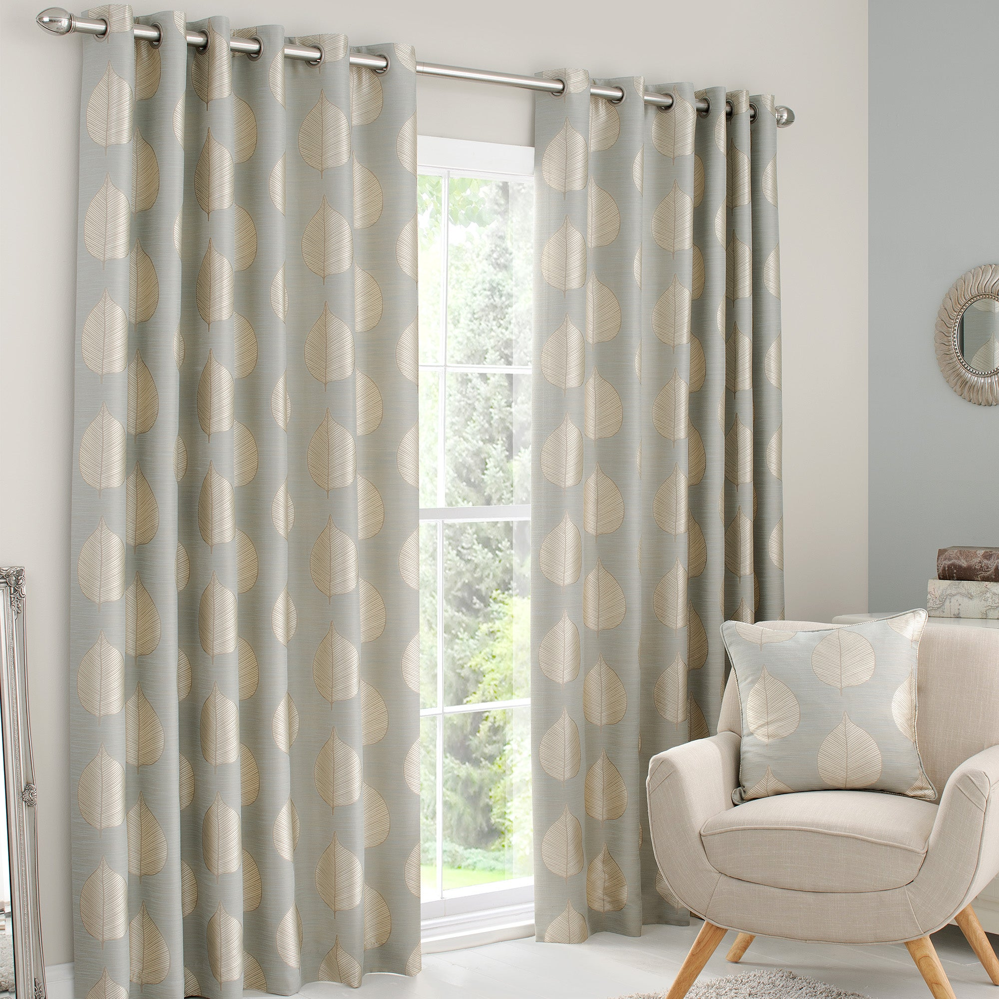Duck Egg Eden Eyelet Curtain Collection