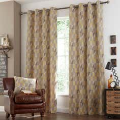 Ochre Revival Eyelet Curtain Collection