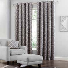 Grey Bali Eyelet Curtain Collection