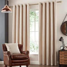 Natural Savannah Eyelet Curtain Collection