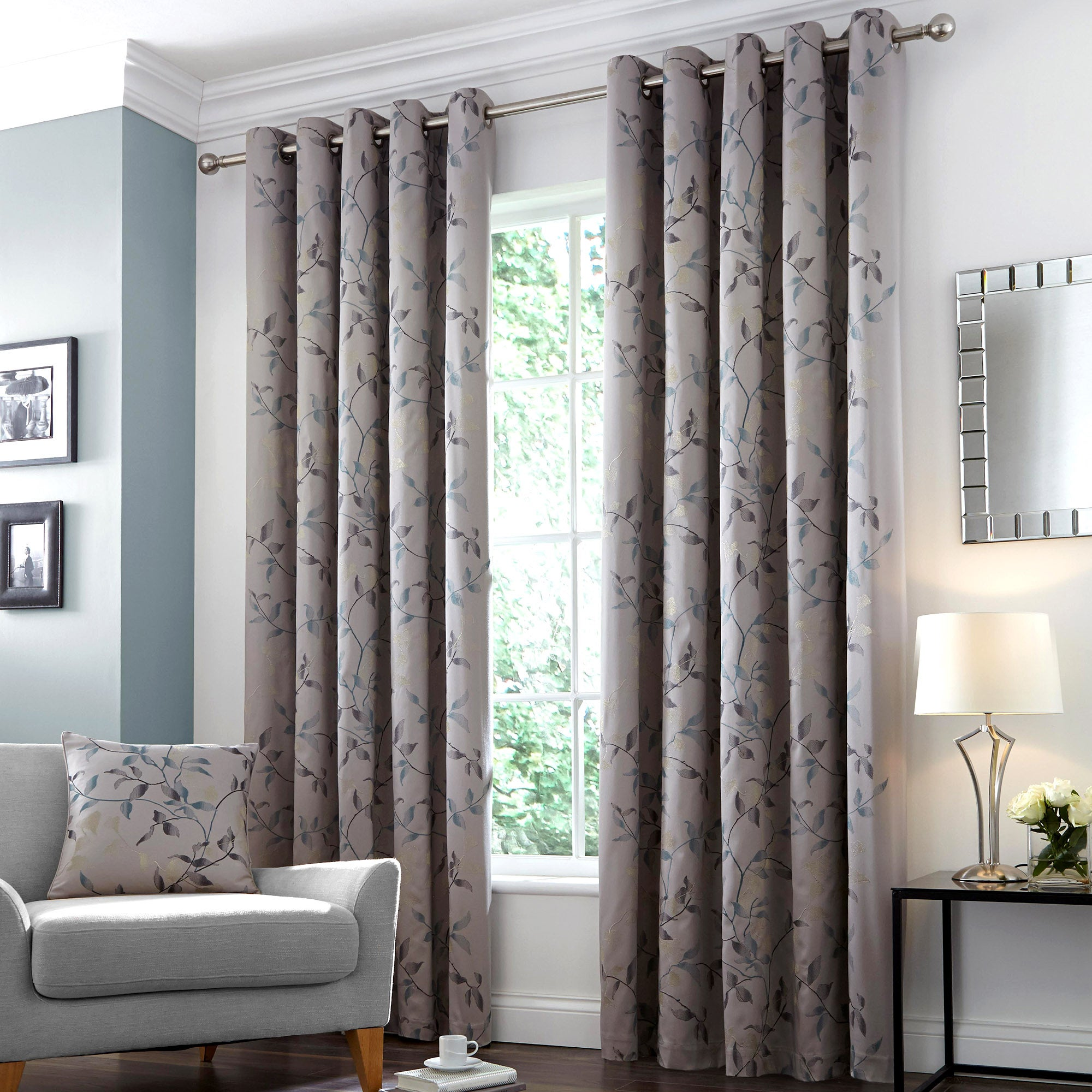 Hotel Teal Twilight Eyelet Curtain Collection