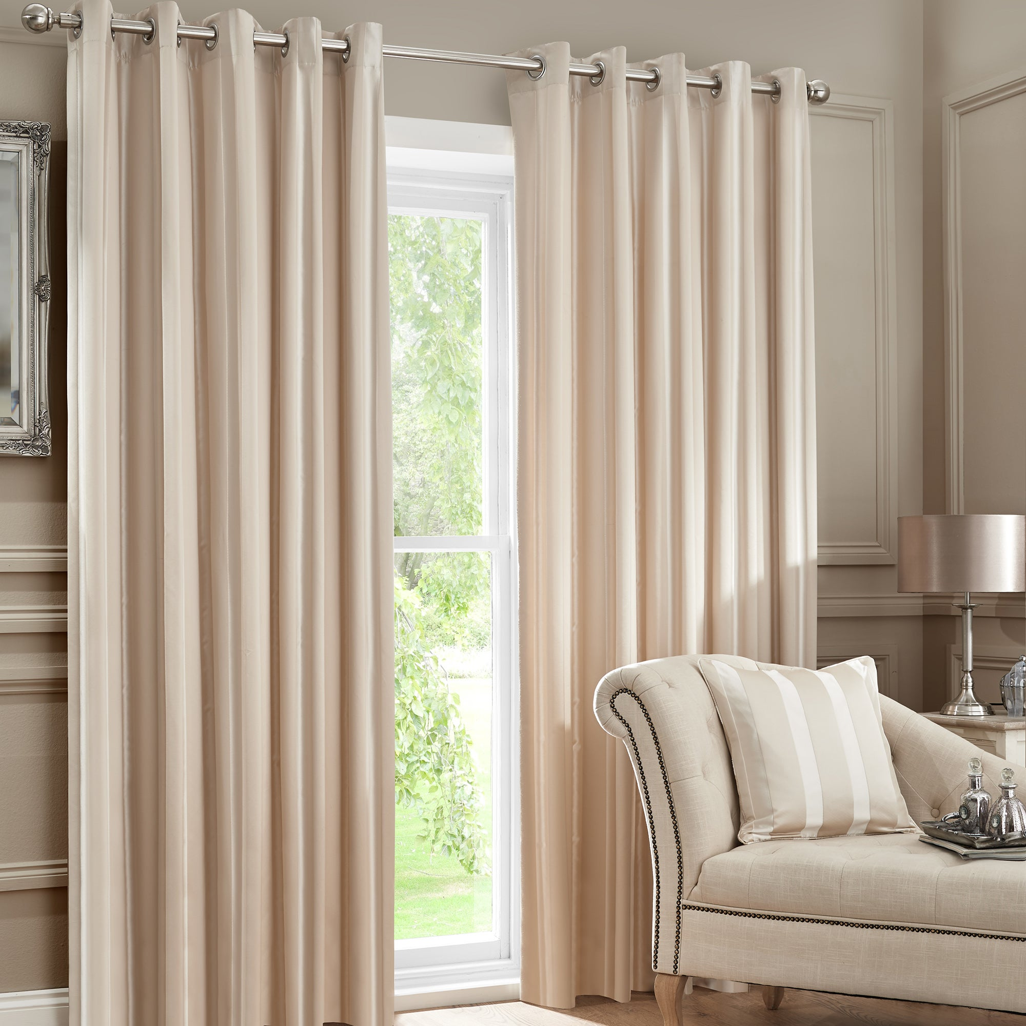 Hotel Champagne Melbury Eyelet Curtain Collection