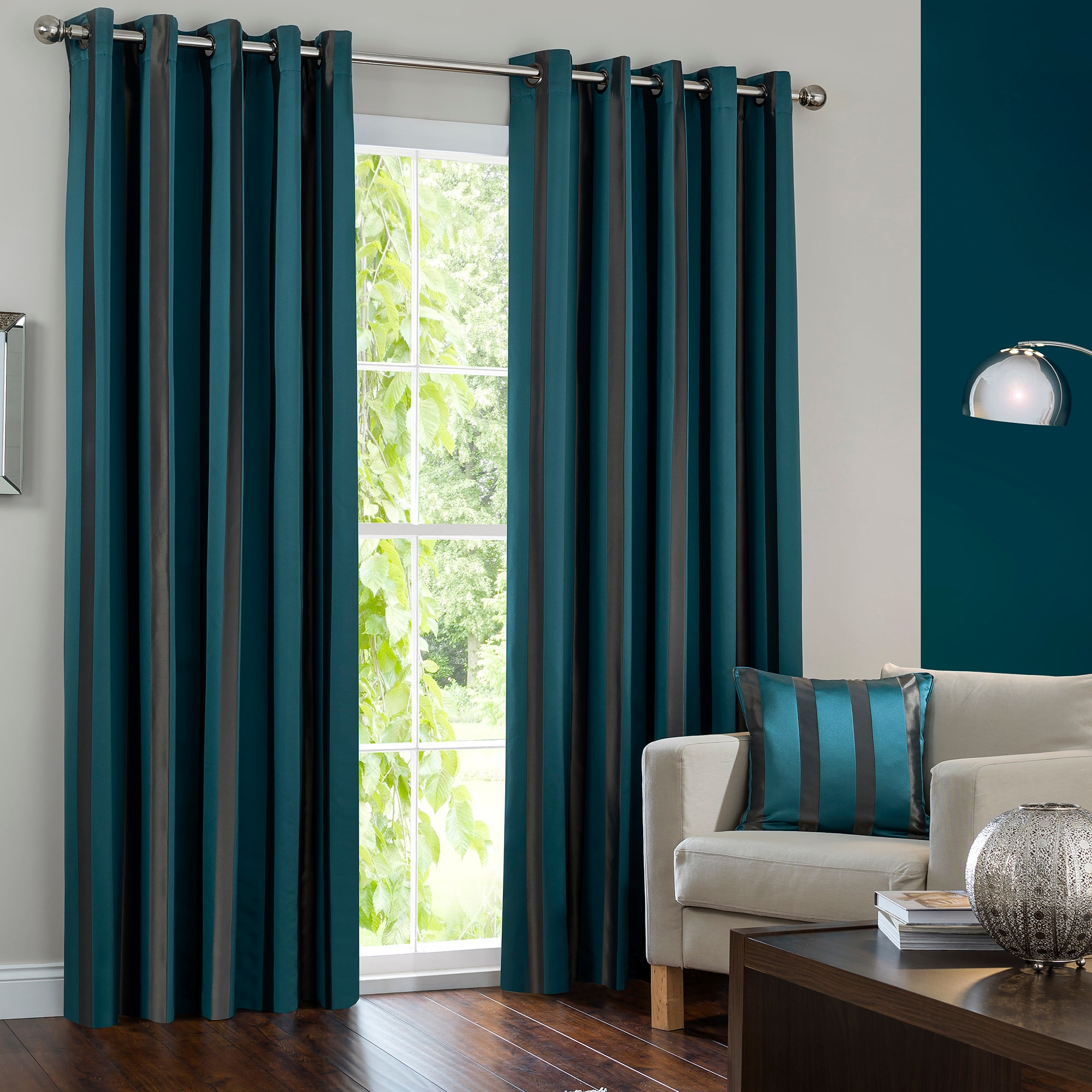 Hotel Petrol Melbury Eyelet Curtain Collection