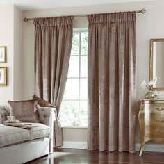Mink Monroe Pencil Pleat Curtain Collection