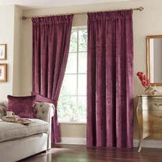 Plum Monroe Pencil Pleat Curtain Collection