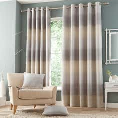 Grey Waves Eyelet Curtain Collection