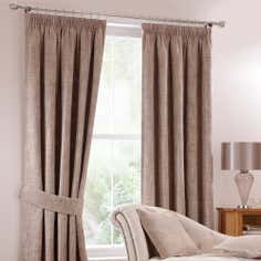 Mink Lorenza Pencil Pleat Curtain Collection