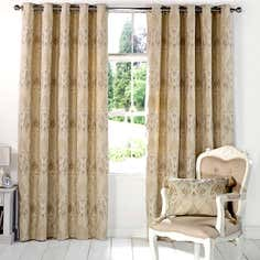 Beige Novello Eyelet Curtain Collection