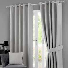 Grey Solar Blackout Eyelet Curtain Collection
