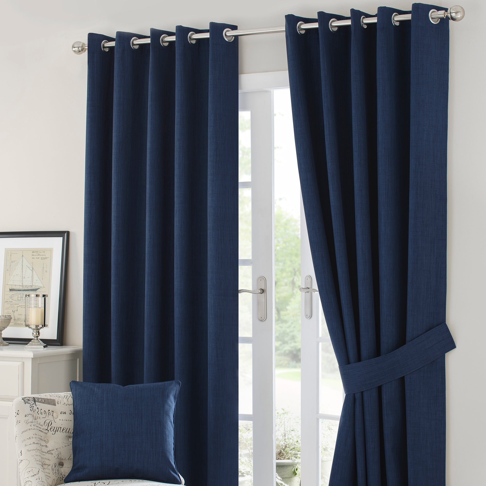 Navy Solar Blackout Eyelet Curtain Collection
