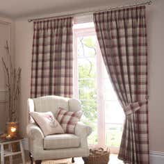 Red Balmoral Pencil Pleat Curtain Collection