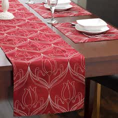 Red Lalique Tablelinen Collection