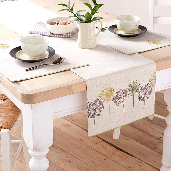 Dandelion Clock Tablelinen Collection