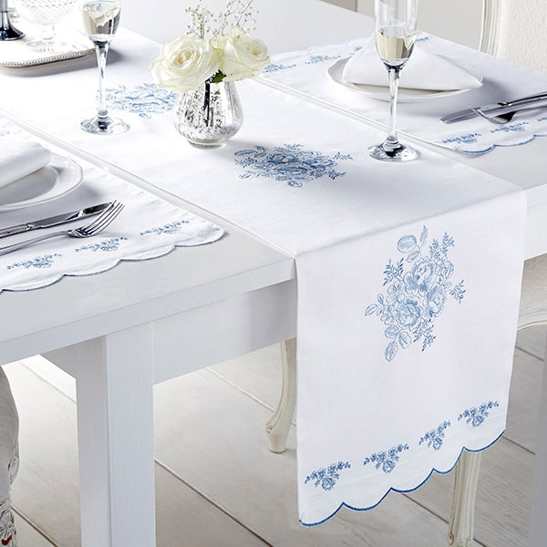 Chateau Blue Tablelinen Collection