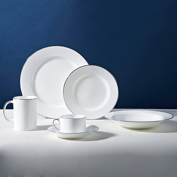 Dorma Platinum Band Dining Collection