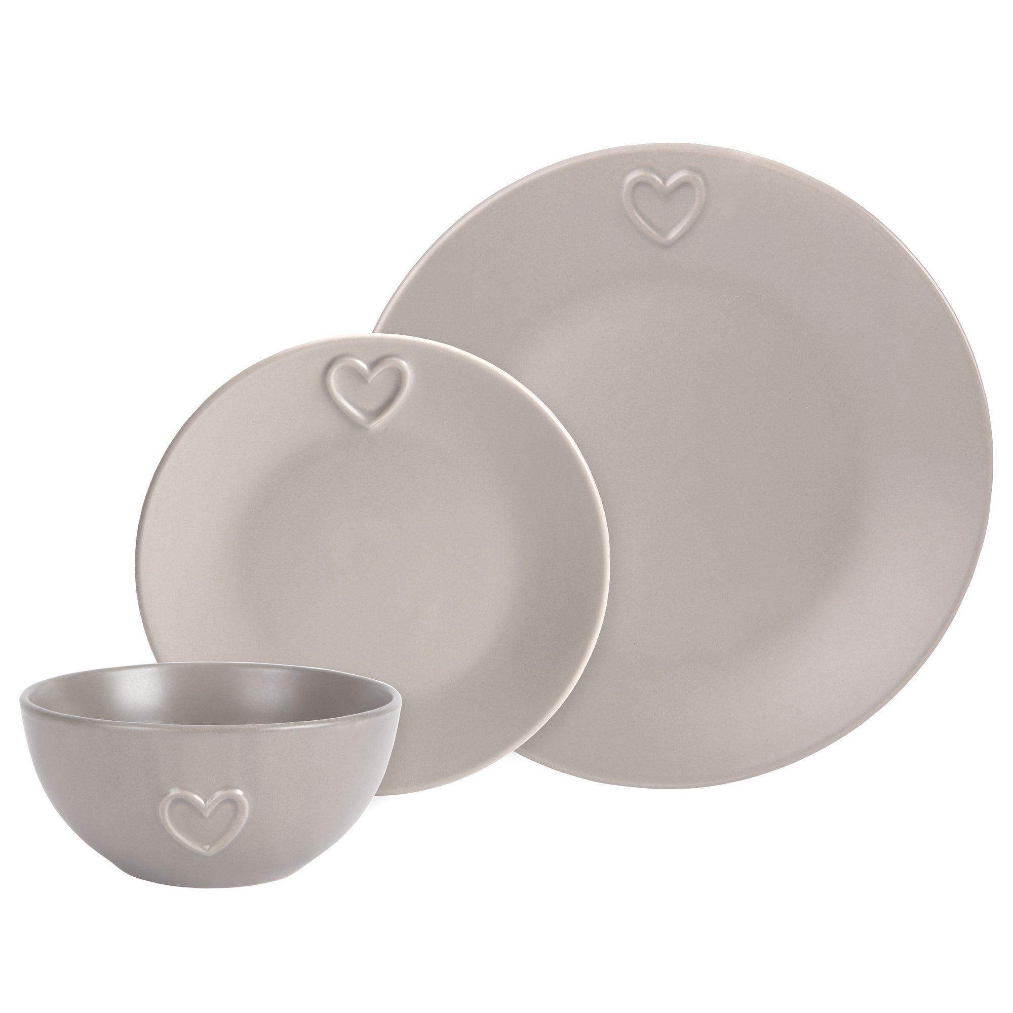 Taupe Country Heart Dinnerware Collection
