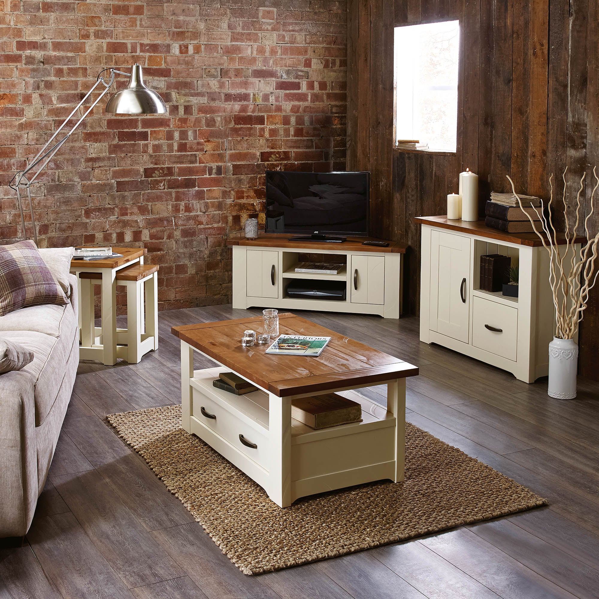 Loxley Cream Living Room Furniture Collection