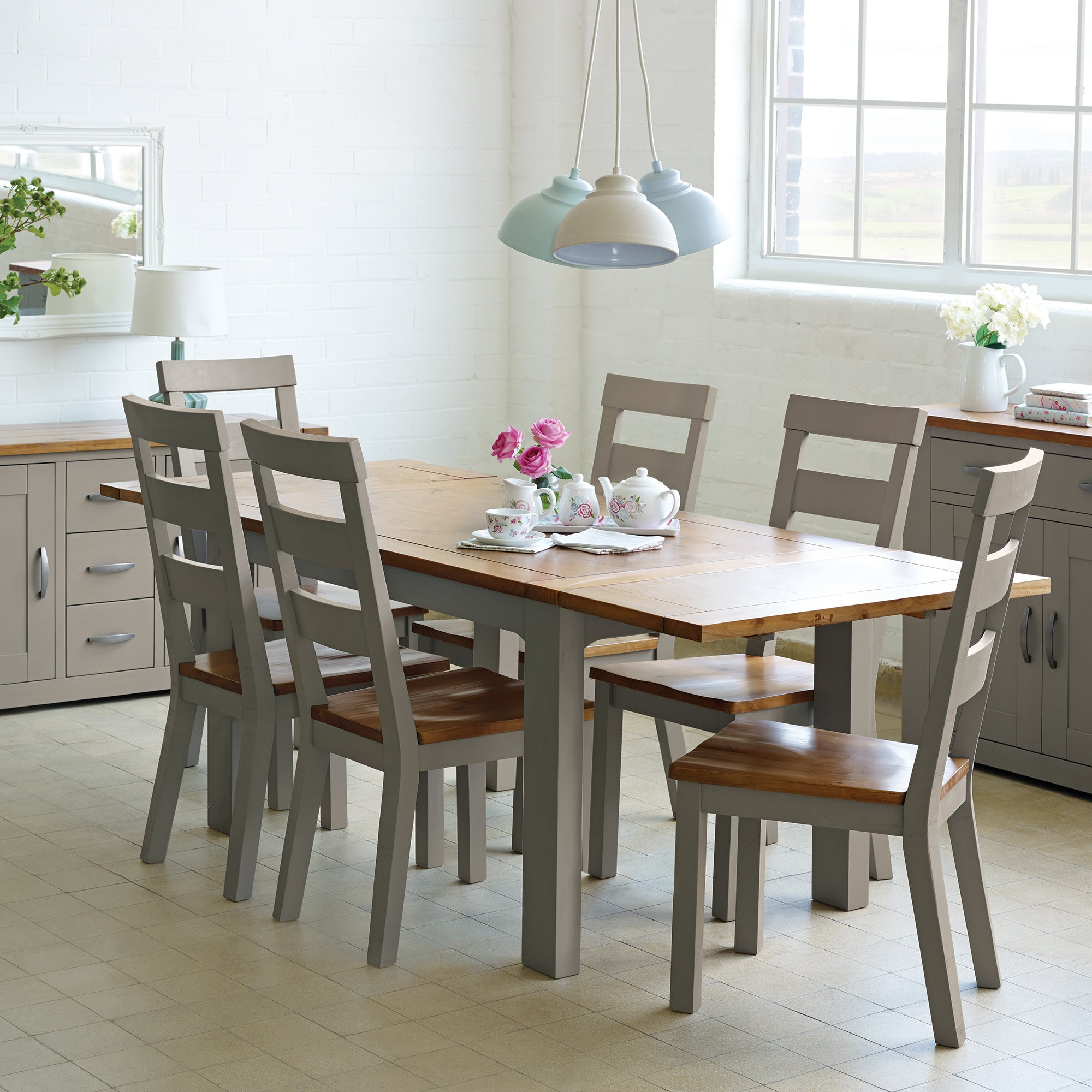 Loxley Grey Dining Room Collection