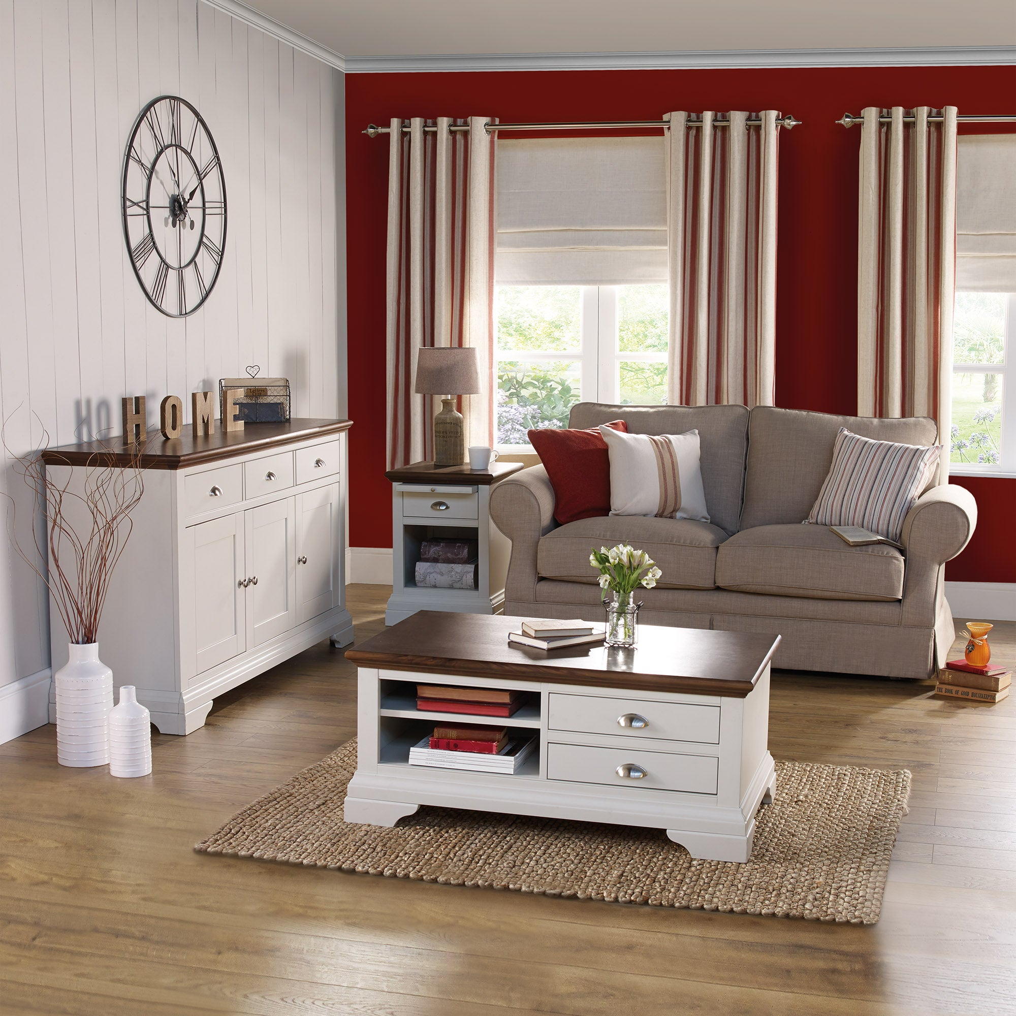 Eaton Soft Grey Living Furniture Collection
