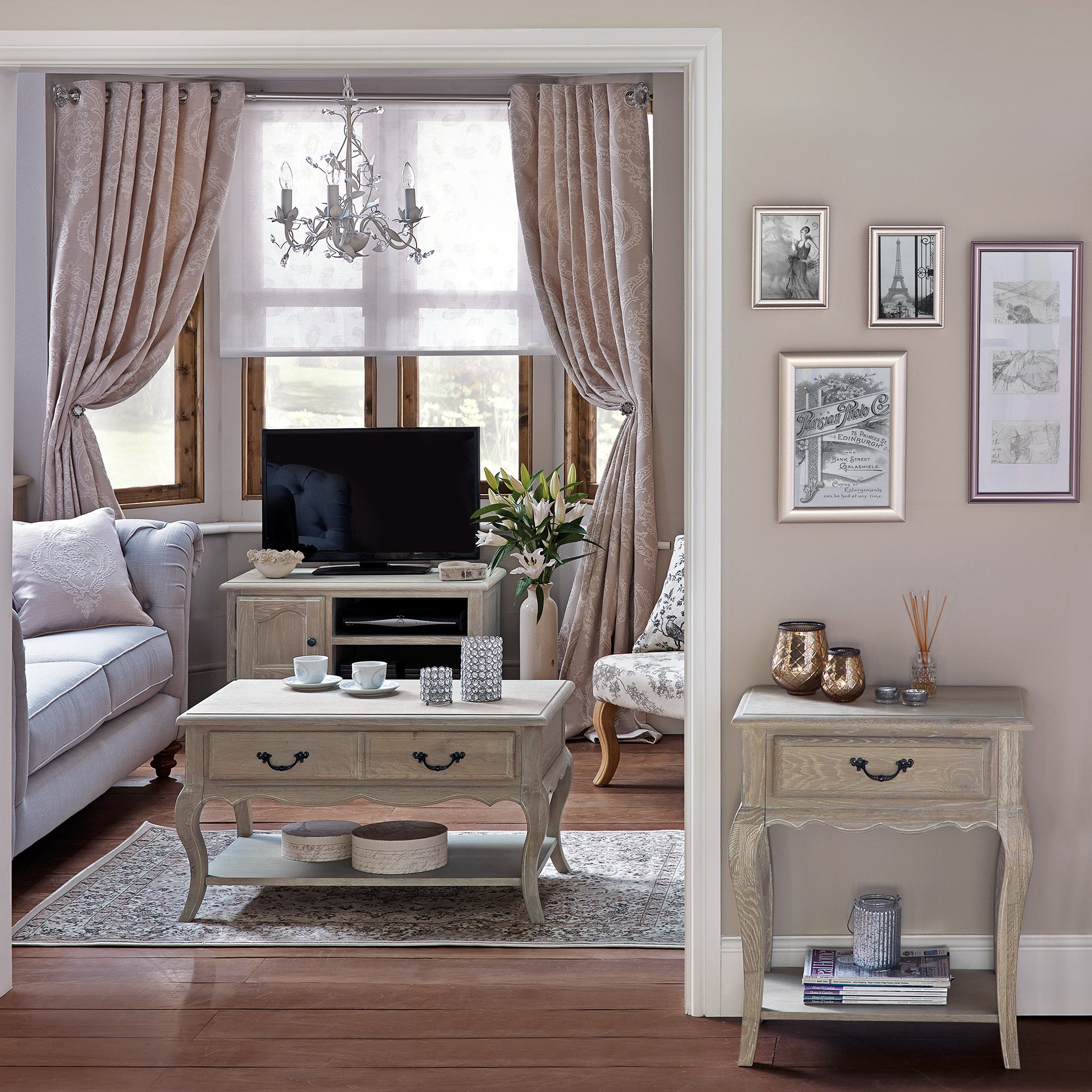 Annabelle Grey Living Furniture Collection