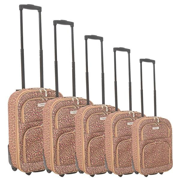 Faro Leopard Print Luggage Collection
