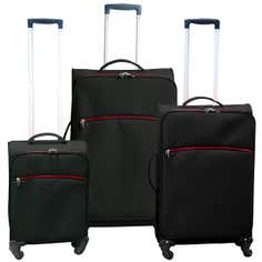 Black Lightweight Luggage Collection