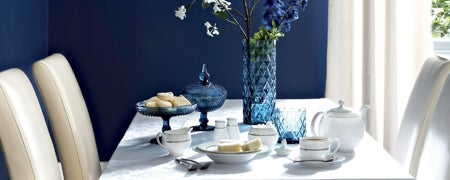 Blue Deco Dining Room