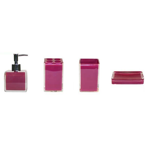 Raspberry Brights Bathroom Collection