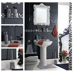 Black and White Zebra Bathroom Collection