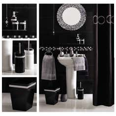 Black Diamante Bathroom Collection