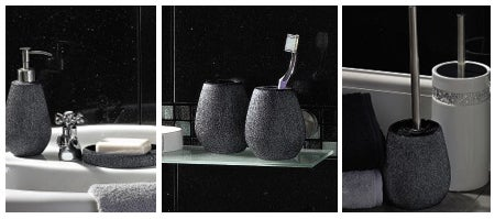 Black Sparkle Bathroom Collection