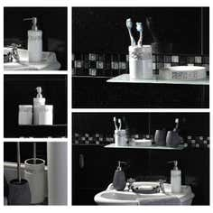 White Diamante Bathroom Collection