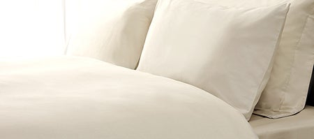 Cream Hotel Plain 300 Thread Count Bedlinen Collection