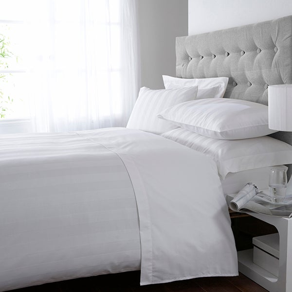White Hotel Stripe 300 Thread Count Bedlinen Collection