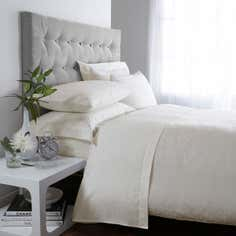 Cream Hotel Circles 300 Thread Count Bedlinen Collection