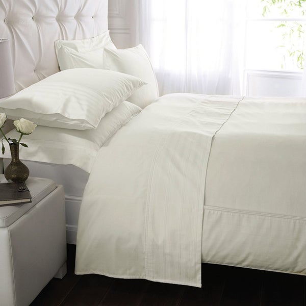 Cream Hotel Pima Plain 400 Thread Count Bedlinen Collection