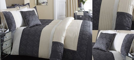 Charcoal Fleur De Lys Bedlinen Collection