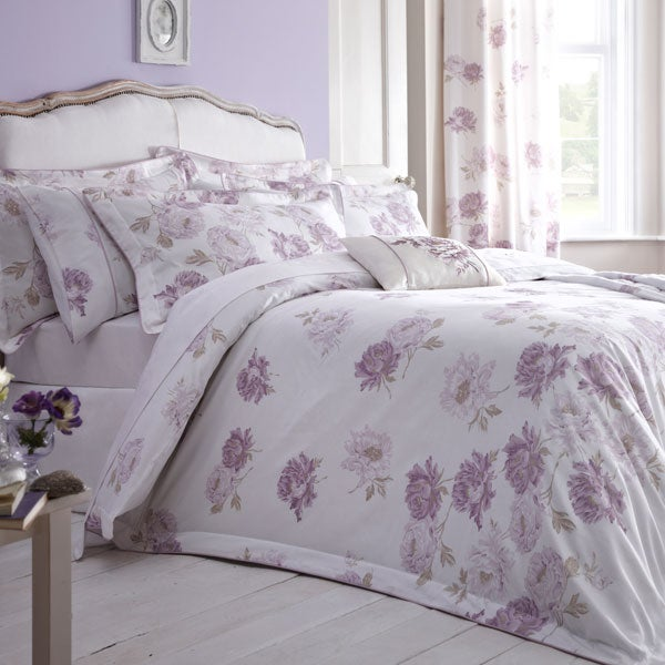 Dorma Lilac Lillian Bedlinen Collection