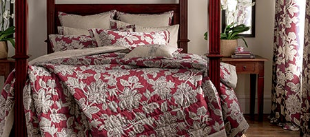 Dorma Red Samira Bedlinen Collection Dunelm