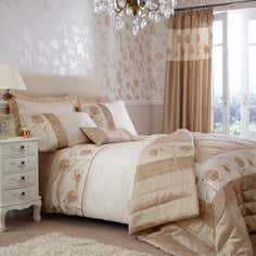 Gold Quilted Rose Bedlinen Collection