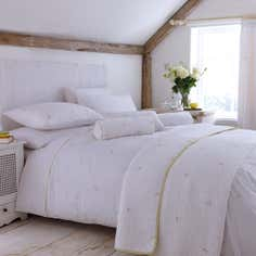 White Abby Rosebud Bedlinen Collection