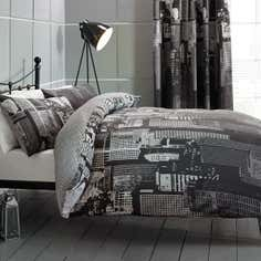Black City Scene Bedlinen Collection