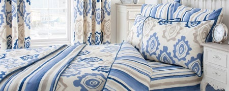 Blue Ikat Bedlinen Collection
