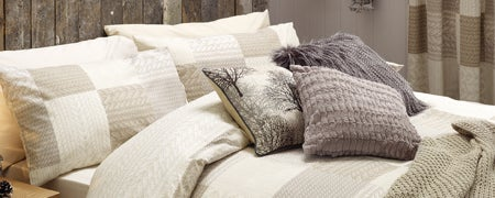 Natural Knitted Patchwork Bedlinen Collection