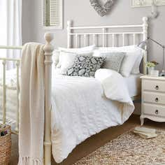 White Adeena Percale Bedlinen Collection
