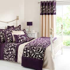 Plum Baroque Flock Bedlinen Collection