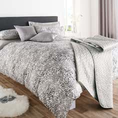 Silver Amber Leopard Print Bedlinen Collection